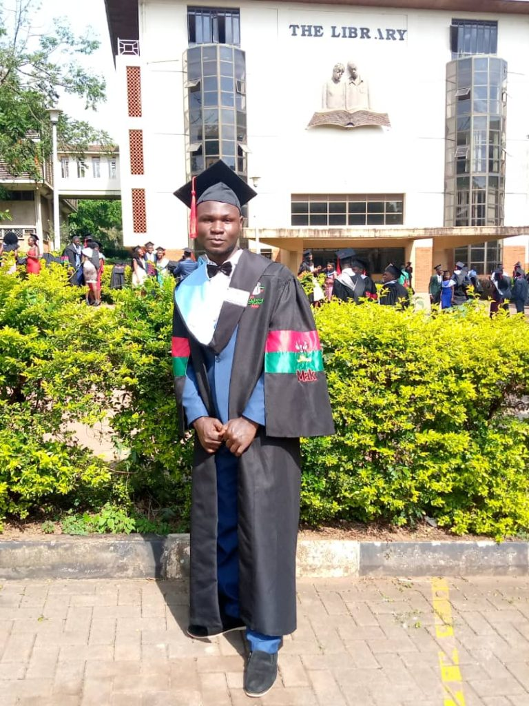 Deus on his graduation day, achieved through the support of his sponsor and the sponsorship programme